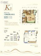 荣安林语春风4室2厅2卫107--121平方米户型图
