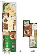 天境昆嵛中国院子2室2厅2卫125平方米户型图
