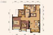 旭阳台北城3室2厅1卫67平方米户型图