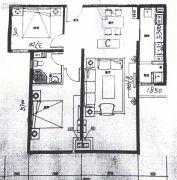 巨华世纪城2室2厅1卫101平方米户型图