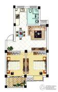 中浪玉泉花苑2室2厅1卫67平方米户型图