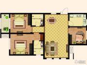 天齐・奥东花园3室2厅2卫122平方米户型图