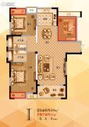 宝格丽公馆3室2厅2卫109--120平方米户型图