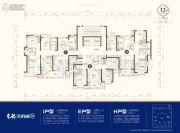 东部美的城3室2厅1卫108--164平方米户型图