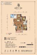 龙湾1号公馆2室2厅1卫91--96平方米户型图