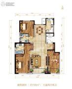 北大资源阅城3室2厅2卫138平方米户型图