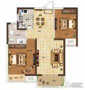 奥兰和园2室2厅1卫87平方米户型图