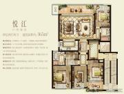 时代滨江4室2厅2卫165平方米户型图