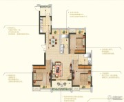 苏宁睿城3室2厅2卫142平方米户型图