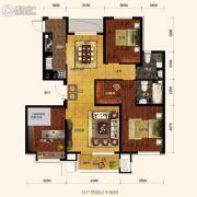 保利海上五月花3室2厅2卫124平方米户型图