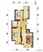 润枫领尚2室2厅1卫87平方米户型图