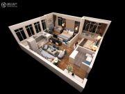泰华・金汇时代2室2厅1卫0平方米户型图