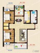 天煜・紫悦城2室2厅1卫102平方米户型图