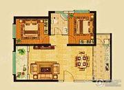 兰雅园丁雅居2室2厅1卫95平方米户型图