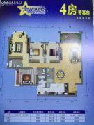 祈福南湾半岛4室2厅3卫168--174平方米户型图