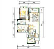 万科柏悦湾3室2厅1卫81平方米户型图
