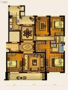 华鸿中央华府4室2厅2卫142平方米户型图