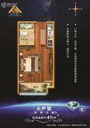 鑫��・V公馆1室1厅1卫41平方米户型图