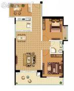 锦峰E公馆3室2厅1卫78平方米户型图
