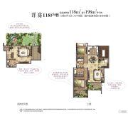 洱海传奇2室3厅3卫0平方米户型图