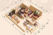 远洋翡丽郡3室2厅1卫89平方米户型图