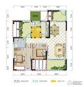 远达春天里3室2厅2卫103平方米户型图