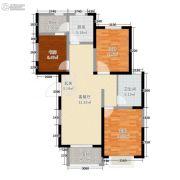 东尚天誉3室2厅1卫86平方米户型图