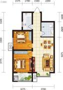 宏府・麒麟山2室2厅1卫88平方米户型图
