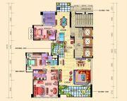 帝�Z东方4室2厅4卫275平方米户型图