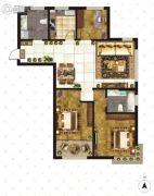 大成门3室2厅2卫130平方米户型图