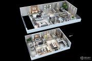 中航樾公馆3室2厅3卫126平方米户型图
