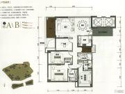 华润银湖蓝山4室2厅3卫187平方米户型图