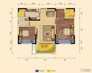 锦汇城2室2厅1卫86平方米户型图