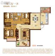 南昌恒大城3室2厅1卫105平方米户型图
