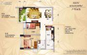 碧桂园山湖城2室2厅1卫68平方米户型图