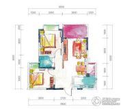 宏达世纪丽景2室2厅1卫76--82平方米户型图
