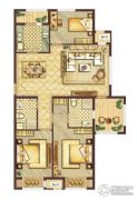 会展城上城3室2厅2卫0平方米户型图