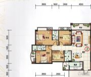 府前雅居苑4室3厅2卫140平方米户型图