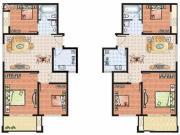 上海建筑3室2厅1卫101平方米户型图