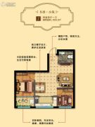 馨逸之福2室2厅1卫65平方米户型图