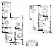 永通公馆4室3厅2卫167平方米户型图