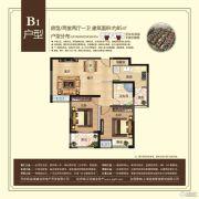 翰林壹品2室2厅1卫85平方米户型图