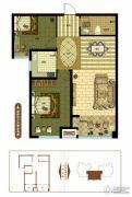 奥北公元2室2厅1卫93平方米户型图