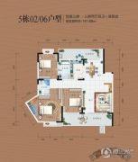 同安・福龙湾3室2厅2卫141平方米户型图