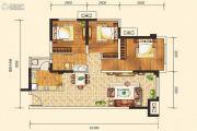 合能枫丹铂麓3室2厅1卫76平方米户型图