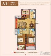 天海望府3室2厅2卫89平方米户型图