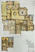 尚品半岛4室2厅3卫191平方米户型图
