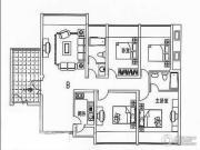 泰祥和家大院3室2厅2卫128平方米户型图