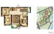 美景嘉园3室2厅1卫113--115平方米户型图