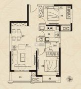 建业新城2室2厅1卫0平方米户型图